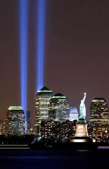 Twin Towers Tribute in Light